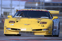 The #3 Chevrolet Corvette C5-R of Ron Fellows, Justin Bell, and Chris Kneifel races to a 2nd place finish in the Rolex 24 at Daytona, Daytona International Speedway, Daytona Beach, FL, February 2000.  (Photo by Brian Cleary/www.bcpix.com)