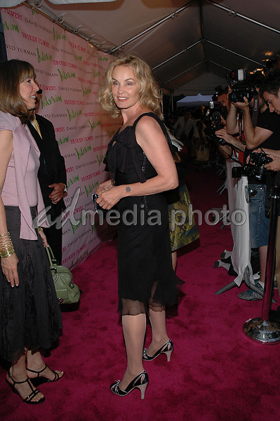 27 July 2005 - New York, New York - Jessica Lange arrives at the premiere of her new film, &quot;Broken Flowers&quot;, at the Chelsea West Cinema in Manhattan.  <br />