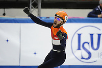 SHORT TRACK: TORINO: 14-01-2017, Palavela, ISU European Short Track Speed Skating Championships, Final A 500m, European Champion Sjinkie Knegt (NED), ©photo Martin de Jong