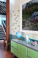modern green sideboard