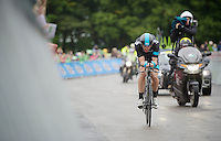 Mathew Hayman (AUS) in the last stretch<br /> <br /> Tour of Britain<br /> stage 3: ITT Knowsley Safari Park (16.1km)<br /> <br /> Tour of Britain<br /> stage 3: ITT Knowsley Safari Park (16.1km)