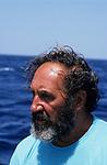 ITALY, Sicily, Egedian island Favignana, La Mattanza, traditional fishing of bluefin Tuna fish, rais (chief) Gioacchino Cataldo