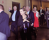 St. Paul, MN - September 4, 2008 -- United States Senator John McCain (Republican of Arizona) waves as he and United States Senator Joseph Lieberman (Independent Democrat of Connecticut) and his wife, Cindy McCain walk through the halls of the Xcel Energy Center after making a microphone check at the Republican Convention in St. Paul, Minnesota on Thursday, September 4, 2008..Credit: Ron Sachs / CNP.(RESTRICTION: NO New York or New Jersey Newspapers or newspapers within a 75 mile radius of New York City)