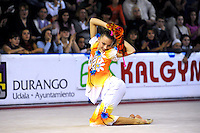 November 9, 2008; Durango, Spain (near Bilbao); Rhythmic gymnast Melitina Staniouta of Belarus performs handsfree gala at 2008 Euskalgym International.  .