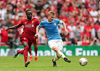 Naby Keita of Liverpool and Kevin De Bruyne of Manchester City during the FA Community Shield match between Liverpool and Manchester City at Wembley Stadium on August 4th 2019 in London, England. (Photo by John Rainford/phcimages.com)<br /> Foto PHC/Insidefoto <br /> ITALY ONLY