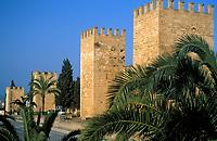 Spanien, Balearen, Mallorca, Alcudia: Festungsmauer | Spain, Balearic Islands, Mallorca, Alcudia: battlement