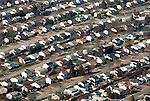 Aerial view of middle america neighborhood housing development