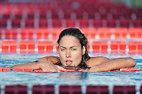 Hungarian champion swimmer Zsuzsanna Jakabos, multiple winner at the 50th Edition of the Settecolli Trophy in Rome, Italy, on June 13, 14 and 15, 2013.