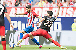 Yannick Ferreira Carrasco (L) of Atletico de Madrid battles for the ball with Raul Garcia (R) of Athletic Club during their La Liga match between Atletico de Madrid vs Athletic de Bilbao at the Estadio Vicente Calderon on 21 May 2017 in Madrid, Spain. Photo by Diego Gonzalez Souto / Power Sport Images