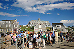Dock scene,  Monhegan Island, Monhegan Plantation, Lincoln County, Maine, USA