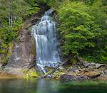 Desolation Sound, British Columbia:<br /> Cassel Falls in Teakerne Arm of West Redonda Island, Teakerne Arm Provincial Park