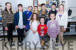 Ready for the catwalk at the Intermediate School Killorglin Fashion Show on Thursday night, the junior models showing off clothes from Mods & Minis<br /> Front L-Roisín Cronin, Aoife Sheehan & Robyn Breen.<br /> Back L-R Niamh Houden, Tadgh Og Cronin, Robbie Conway, Kieran Sheehan,  Ben O'Shea, Conor Hughes & Zoe Conway.