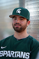 Michigan State Spartans relief pitcher Josh Buchalski (25) during a game against the Illinois State Redbirds on March 8, 2016 at North Charlotte Regional Park in Port Charlotte, Florida.  Michigan State defeated Illinois State 15-0.  (Mike Janes/Four Seam Images)