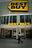 A Best Buy store is pictured in Toronto April 19, 2010. Best Buy Co., Inc. (NYSE: BBY) is a specialty retailer of consumer electronics in the United States and Canada accounting for 19% of the market.