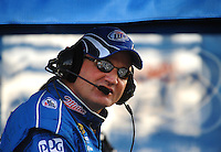 Mar. 1, 2009; Las Vegas, NV, USA; NASCAR Sprint Cup Series crew chief Pat Tryson during the Shelby 427 at Las Vegas Motor Speedway. Mandatory Credit: Mark J. Rebilas-
