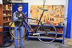 General Manager Isabelle shows us around the Thompson Bikes factory in Leissens, Flanders, Belgium. 23rd March 2017.<br /> Picture: Eoin Clarke   Cyclefile<br /> <br /> <br /> All photos usage must carry mandatory copyright credit (&copy; Cyclefile   Eoin Clarke)
