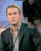 April 30, 2012: Chris Hemsworth at Good Morning America the talk about his new movie the Avengers in New York City. Credit: RW/MediaPunch Inc.