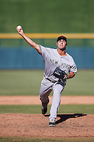 Scottsdale Scorpions pitcher J.P. Feyereisen (43), of the New York Yankees organization, during a game against the Mesa Solar Sox on October 21, 2016 at Sloan Park in Mesa, Arizona.  Mesa defeated Scottsdale 4-3.  (Mike Janes/Four Seam Images)