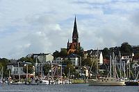 Blick über die Förde, Flensburg, Schleswig-Holstein, Deutschland