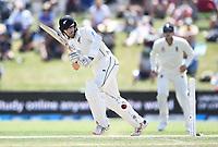 22nd November 2019; Mt Maunganui, New Zealand;  Kane Williamson batting on Day 2, 1st Test match. New Zealand versus England. International Cricket at Bay Oval, Mt Maunganui, New Zealand.
