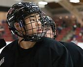 Jonathan Liau (Princeton - 10) - The Harvard University Crimson defeated the Princeton University Tigers 3-2 on Friday, January 31, 2014, at the Bright-Landry Hockey Center in Cambridge, Massachusetts.