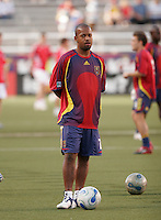 Real Salt Lake midfielder Andy Williams (7) during warm ups. Real Salt Lake defeated the Chicago Fire 3-1 at Rice Eccles Stadium, Salt Lake City, Utah, June 3, 2006.