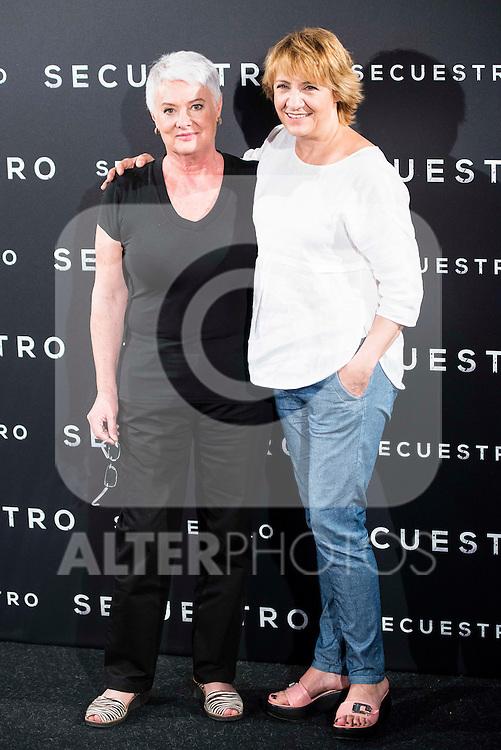 "The director of the film, Mar Targarona and Blanca Portillo during the presentation of the spanish film ""Secuestro"" in Madrid. July 27. 2016. (ALTERPHOTOS/Borja B.Hojas)"