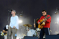 LONDON, ENGLAND - JUNE 29: Tommy O'Dell and Johnny Took of 'DMA'S' performing at Finsbury Park on June 29, 2018 in London, England.<br /> CAP/MAR<br /> &copy;MAR/Capital Pictures