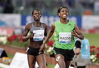 L'etiope Fantu Magiso vince gli 800 metri donne durante il Golden Gala di atletica leggera allo stadio Olimpico di Roma, 31 maggio 2012..Ethiopia's Fantu Magiso wins the women's 800 meters hurdles during the IAAF athletic Golden Gala meeting at Rome's Olympic stadium, 31 may 2012..UPDATE IMAGES PRESS/Riccardo De Luca
