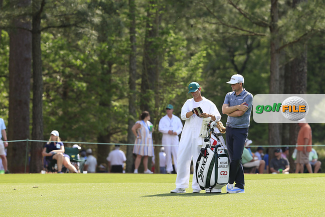 Keegan Bradley (USA) on the 14th during the 1st round at the The Masters , Augusta National, Augusta, Georgia, USA. 11/04/2019.<br /> Picture Fran Caffrey / Golffile.ie<br /> <br /> All photo usage must carry mandatory copyright credit (© Golffile | Fran Caffrey)