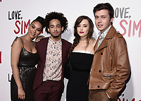 "LOS ANGELES, CA - MARCH 13: Alexandra Shipp, Jorge Lendeborg Jr., Katherine Langford and Nick Robinson at the special screening of 20th Century Fox's ""Love, Simon"" at Westfield Century City on March 13, 2018 in Los Angeles, California. (Photo by Scott Kirkland/PictureGroup)"