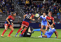 Boyds, MD - Friday Sept. 30, 2016: Ali Krieger, Cara Walls during a National Women's Soccer League (NWSL) semi-finals match between the Washington Spirit and the Chicago Red Stars at Maureen Hendricks Field, Maryland SoccerPlex. The Washington Spirit won 2-1 in overtime.