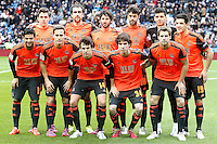 Real Sociedad's team photo with Gorka Elustondo, Mikel Gonzalez, Esteban Granero, Xabi Prieto, Geronimo Rulli, Yuri Berchiche, Carlos Vela, Sergio Canales, Ruben Pardo, Aritz Elustondo and Inigo Martinez during La Liga match.January 31,2015. (ALTERPHOTOS/Acero) /NortePhoto<br />