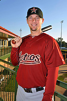 Feb 25, 2010; Kissimmee, FL, USA; The Houston Astros infielder Chris Johnson (23) during photoday at Osceola County Stadium. Mandatory Credit: Tomasso De Rosa/ Four Seam Images