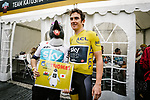 Tour de France Champion Geraint Thomas (WAL) Team Sky with a fan before the 2018 Saitama Criterium, Japan. 4th November 2018.<br /> Picture: ASO/Pauline Ballet | Cyclefile<br /> <br /> <br /> All photos usage must carry mandatory copyright credit (&copy; Cyclefile | ASO/Pauline Ballet)