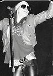 GUNS N ROSES - Axl Rose - Performing Live at Perkins Palace, Pasadena, Ca 12/28/1987 - Photo Credit : David Plastik