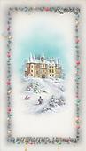 Interlitho, CHRISTMAS SANTA, SNOWMAN, nostalgic, paintings, castle, man(KL5050/1,#X#) Weihnachten, nostalgisch, Navidad, nostálgico, illustrations, pinturas