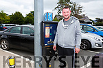 Motorist Caolan Taylor tries to use the second Parking kiosk in the Lewis Road car park in Killarney, but finds out this one is also broken.