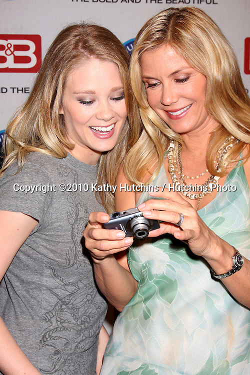 """Kimberly Matula & Katherine Kelly Lang.Guinness World Records®  presents THE BOLD AND THE BEAUTIFUL with the certification as the  """"Most Popular Daytime TV Soap - Current..Bold & Beautiful Set, Stage 31, CBS Televsion CIty.Los Angeles, CA.May 18, 2010.©2010 Kathy Hutchins / Hutchins Photo.."""