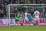 10.02.2019, Weser Stadion, Bremen, GER, 1.FBL, Werder Bremen vs FC Augsburg, <br /> <br /> DFL REGULATIONS PROHIBIT ANY USE OF PHOTOGRAPHS AS IMAGE SEQUENCES AND/OR QUASI-VIDEO.<br /> <br />  im Bild<br /> <br /> 1:0 Milot Rashica (Werder Bremen #11) gegen Gregor Kobel (FC Augsburg #40)<br /> Konstantinos Stafylidis (FC Augsburg #03)<br /> Rani Khedira (FC Augsburg #08)<br /> Foto © nordphoto / Kokenge