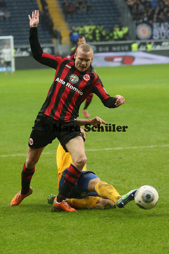 Sebastian Rode (Frankfurt) gegen Kevin Katz (Braunschweig) - Eintracht Frankfurt vs. Eintracht Braunschweig, Commerzbank Arena