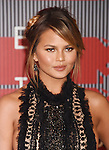 LOS ANGELES, CA - AUGUST 30: Model Chrissy Teigen arrives at the 2015 MTV Video Music Awards at Microsoft Theater on August 30, 2015 in Los Angeles, California.