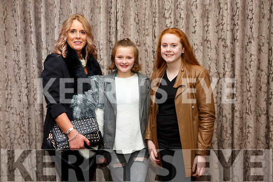 Lisa Martin, Jodie Moore and  Kelsey Moore at the Shaws Fashion Show in aid of Kerry Hospice at The Rose Hotel on Thursday night