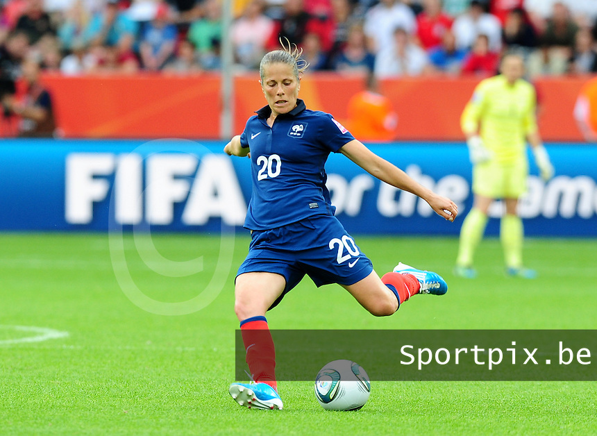 Fifa Women's World Cup Germany 2011 : England - France - at Leverkusen : Sabrina Viguier.foto DAVID CATRY / Vrouwenteam.be