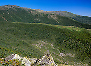 Looking across the Gulf of Slides at Boott Spur Mountain from Glen Boulder Trail in the White Mountain National Forest of New Hampshire USA