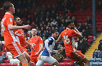 Blackburn Rovers' Bradley Dack watches his first goal of the game go into the back of the net<br /> <br /> Photographer Rachel Holborn/CameraSport<br /> <br /> The EFL Sky Bet League One - Blackburn Rovers v Blackpool - Saturday 10th March 2018 - Ewood Park - Blackburn<br /> <br /> World Copyright &copy; 2018 CameraSport. All rights reserved. 43 Linden Ave. Countesthorpe. Leicester. England. LE8 5PG - Tel: +44 (0) 116 277 4147 - admin@camerasport.com - www.camerasport.com