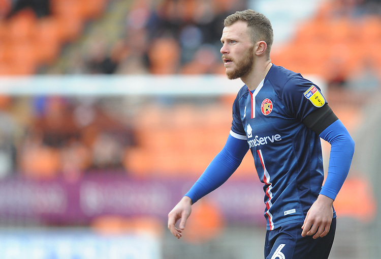 Walsall's Nicky Devlin<br /> <br /> Photographer Kevin Barnes/CameraSport<br /> <br /> The EFL Sky Bet League One - Blackpool v Walsall - Saturday 9th February 2019 - Bloomfield Road - Blackpool<br /> <br /> World Copyright &copy; 2019 CameraSport. All rights reserved. 43 Linden Ave. Countesthorpe. Leicester. England. LE8 5PG - Tel: +44 (0) 116 277 4147 - admin@camerasport.com - www.camerasport.com