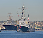19 April 2013.  USS DECATUR (DDG-73) returns to San Diego after an eight month deployment.