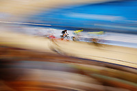 Campbell Stewart of New Zealand competes at the Men's 40km Points Race Final. Gold Coast 2018 Commonwealth Games, Track Cycling, Anna Meares Velodrome, Brisbane, Australia. 8 April 2018 © Copyright Photo: Anthony Au-Yeung / www.photosport.nz /SWpix.com