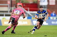 Freddie Burns of Bath Rugby in possession. Anglo-Welsh Cup Final, between Bath Rugby and Exeter Chiefs on March 30, 2018 at Kingsholm Stadium in Gloucester, England. Photo by: Patrick Khachfe / Onside Images